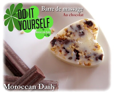 barres de massage maison : Barre de massage au chocolat